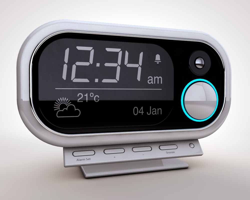 Modern Digital LED Table Clock 24 or 12 Hour Display Alarm